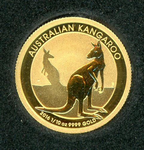 Thumbnail for 2016 One Tenth oz Australian Gold Kangaroo