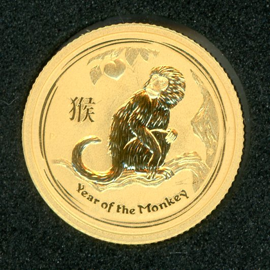 Thumbnail for 2016 One Tenth oz Australian Gold Year of the Monkey