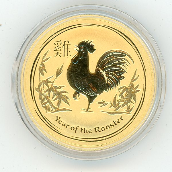 Thumbnail for 2017 Australian Half oz Gold - Year of the Rooster