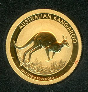 Thumbnail for 2017 Australian One Tenth oz Gold - Year of the Kangaroo