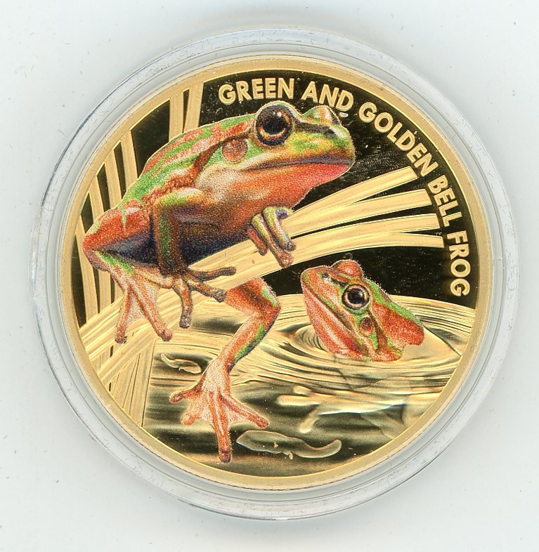 Thumbnail for 2017 Niue 1oz Gold-Green & Golden Bell Frog