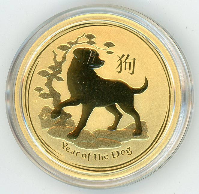 Thumbnail for 2018 Australian 1oz Gold - Year of the Dog