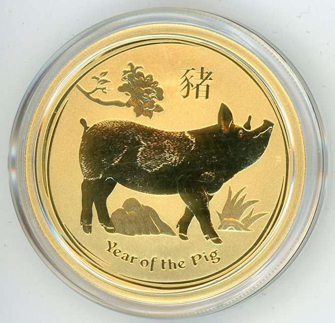 Thumbnail for 2019 Australian 1oz Gold Year of the Pig