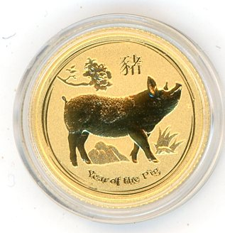 Thumbnail for 2019 Australian One Tenth oz Gold - Year of the Pig