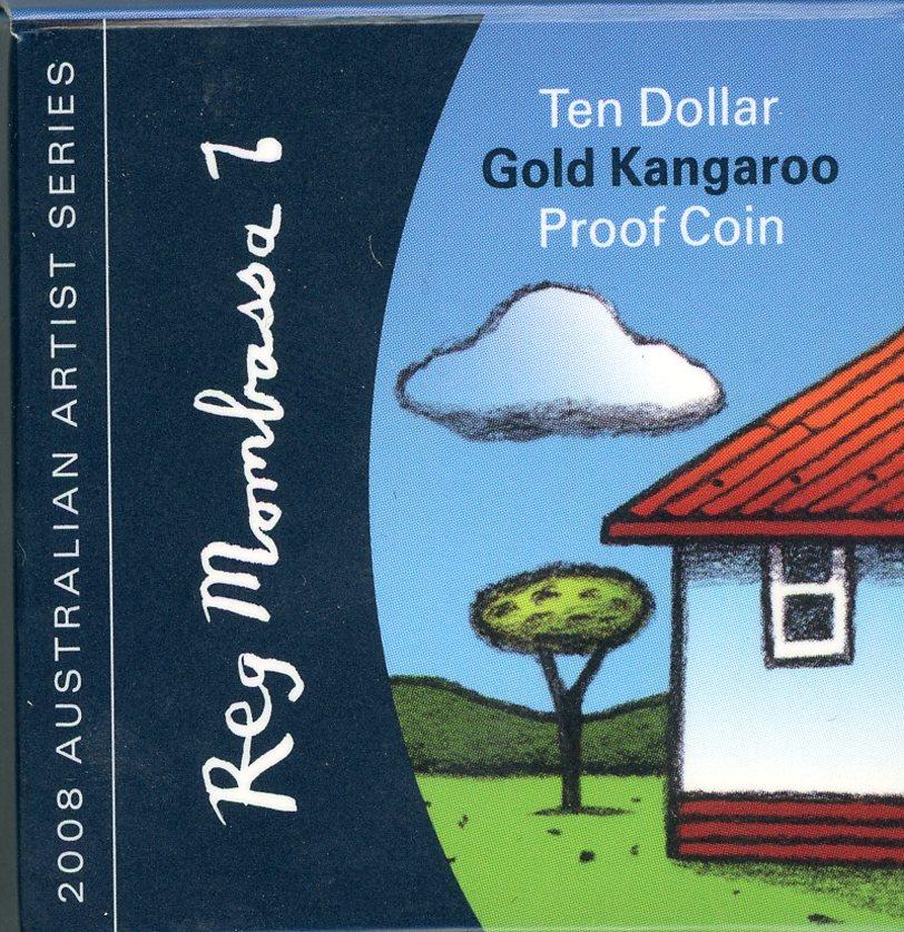 Thumbnail for 2008 Australian Artist Series $10 Gold Proof Coin - Reg Mombassa