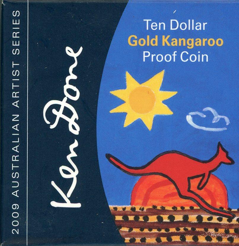 Thumbnail for 2009 Australian Artist Series $10 Gold Kangaroo Proof Coin - Ken Done
