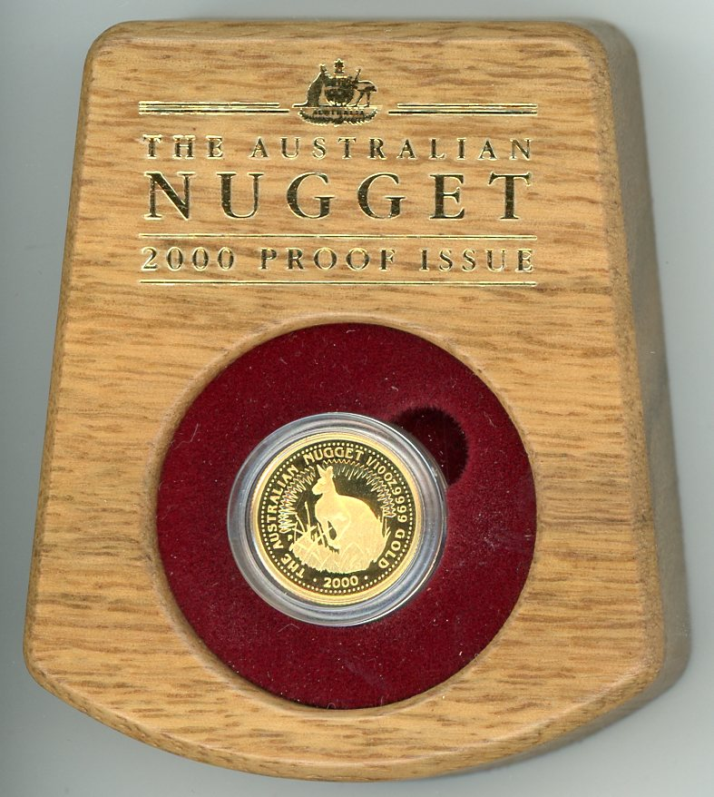 Thumbnail for 2000 One Tenth oz Australian Nugget Gold Proof Coin - Kangaroo