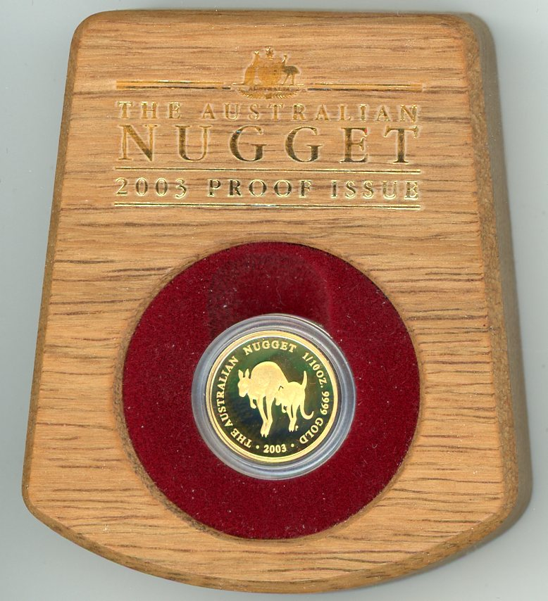 Thumbnail for 2003 Australian Nugget One Tenth oz Gold Proof Coin - Kangaroo