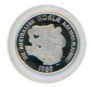 Thumbnail for 1989 One Twentieth oz Proof Australian Koala