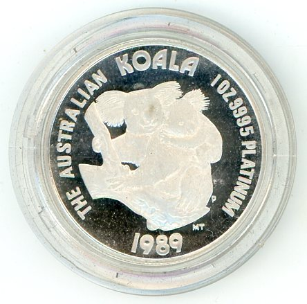 Thumbnail for 1989 One oz Proof Platinum Koala