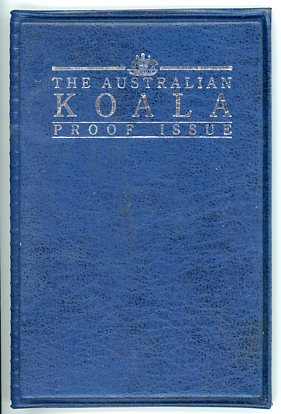 Thumbnail for 1992 One Twentieth oz Proof Platinum Koala in Blue Wallet with Certificate