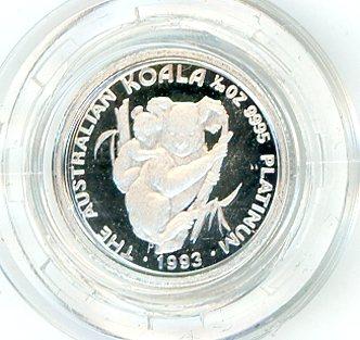 Thumbnail for 1993 One Twentieth oz Proof Platinum Koala in Capsule