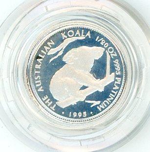 Thumbnail for 1995 One Twentieth oz Proof Platinum Koala in Capsule