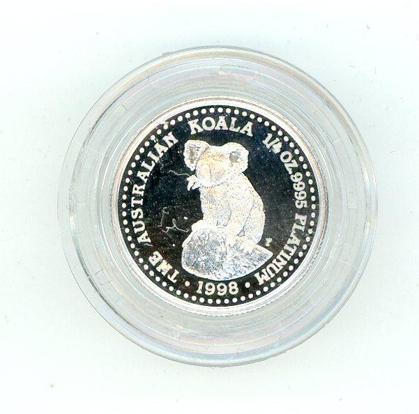 Thumbnail for 1998 One Quarter Platinum Koala Proof in Capsule