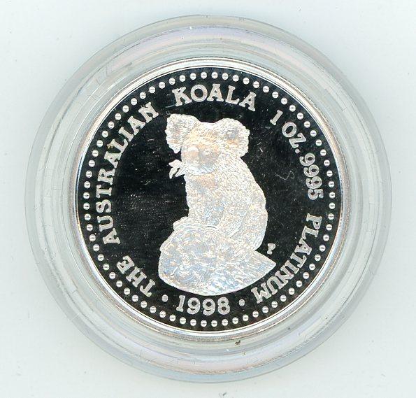 Thumbnail for 1998 One oz Platinum Koala Proof in Capsule