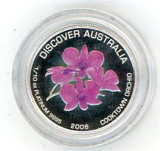 Thumbnail for 2006 One Tenth Platinum Discover Australia in Capsule - Cooktown Orchid