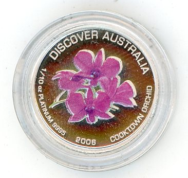 Thumbnail for 2006 One Tenth oz Cooktown Orchid Coloured Proof In Capsule - Discover Australia