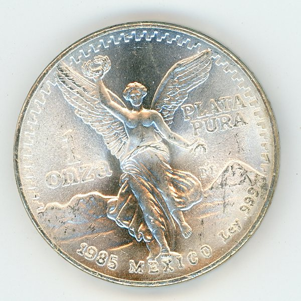 Thumbnail for 1985 Mexico 1oz .999 Silver