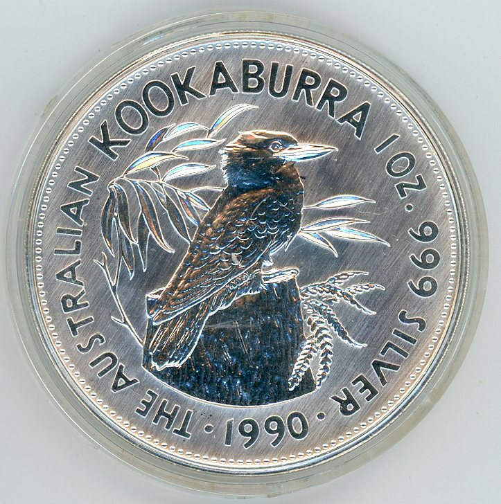 Thumbnail for 1990 1oz Kookaburra in Capsule