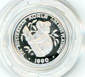 Thumbnail for 1990 One Twentieth oz Proof Platinum Koala in Capsule