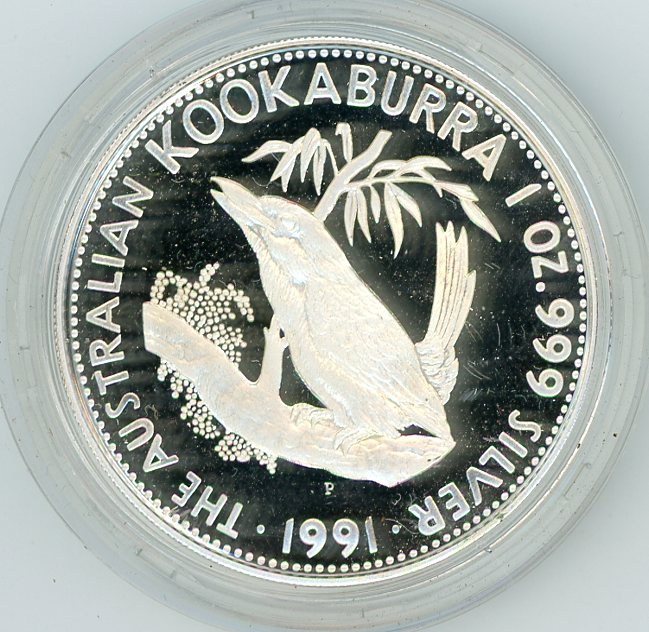Thumbnail for 1991 One oz Silver Proof Kookaburra in Capsule