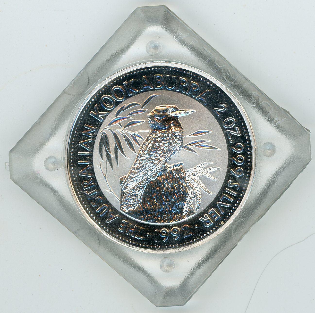 Thumbnail for 1992 2oz Silver Kookaburra In Capsule