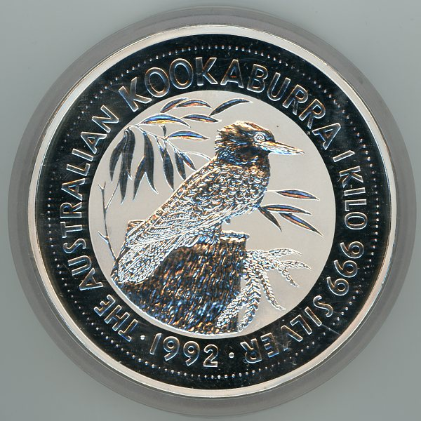 Thumbnail for 1992 One Kilo Kookaburra .999 Silver