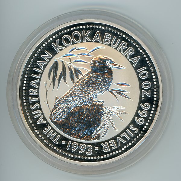 Thumbnail for 1993 10oz Kookaburra .999 Silver