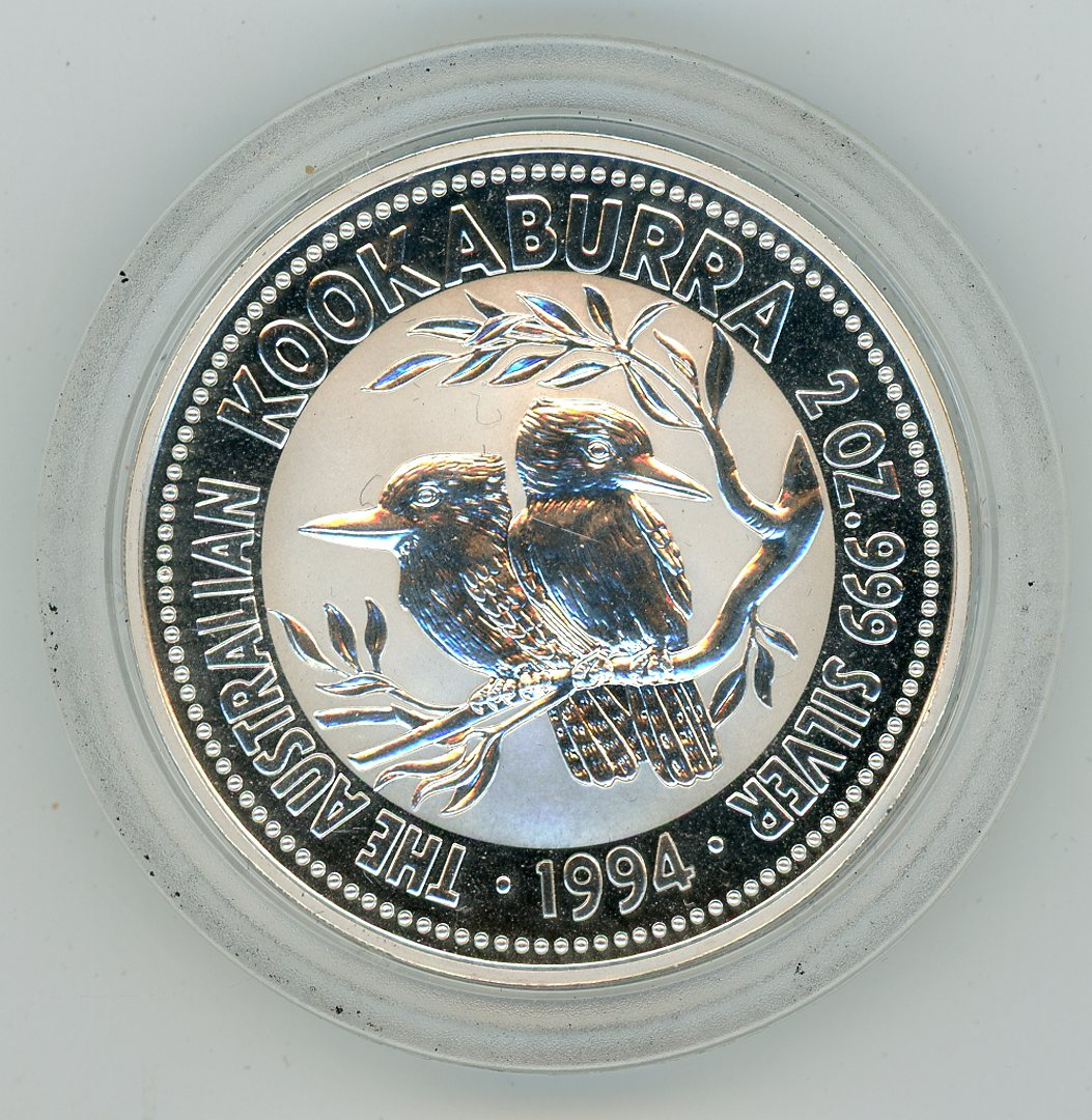 Thumbnail for 1994 2oz Silver Kookaburra .999 Silver