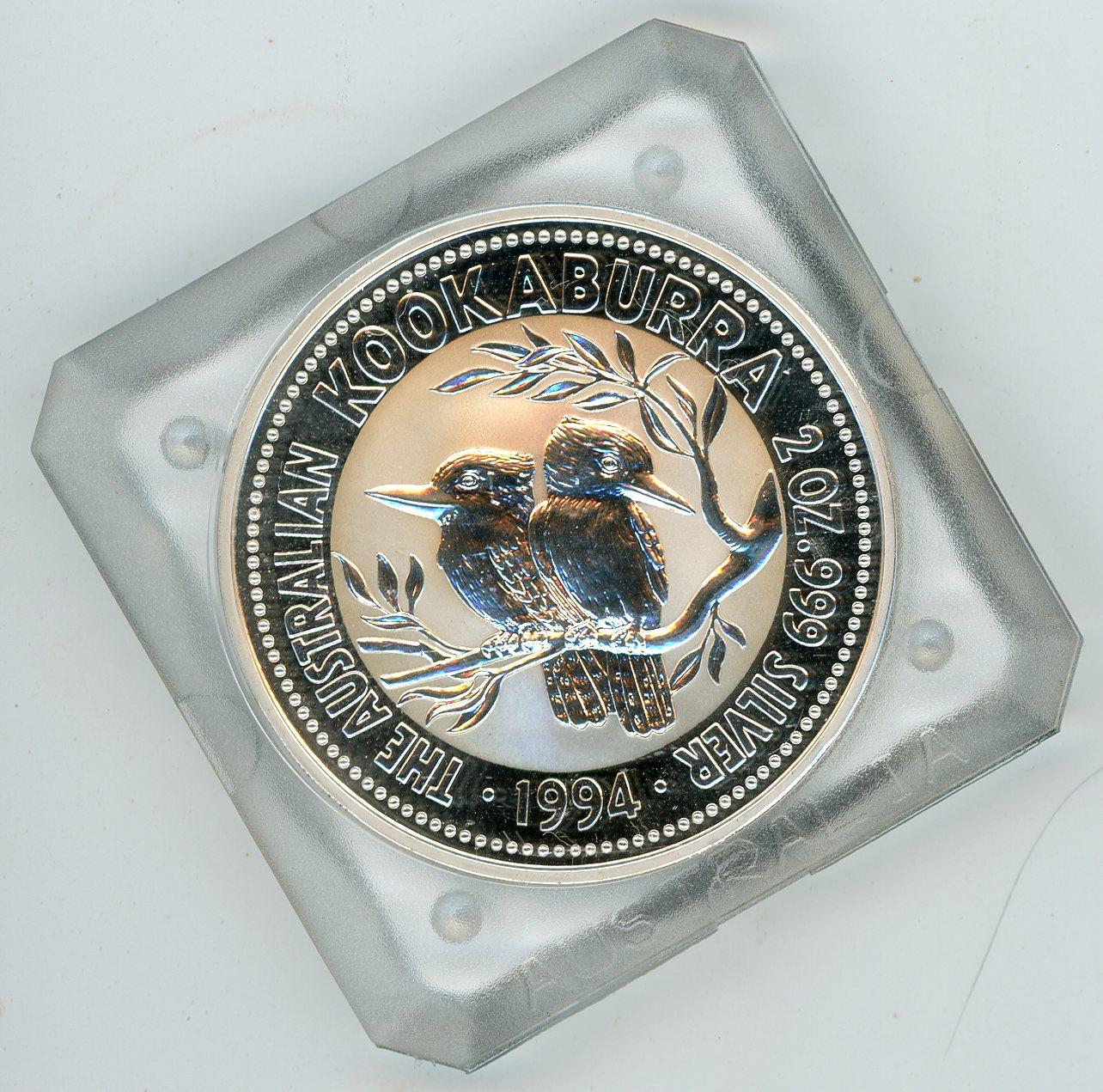 Thumbnail for 1994 2oz Silver Kookaburra In Capsule