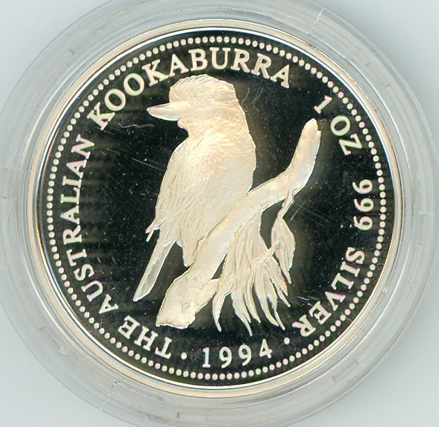 Thumbnail for 1994 One oz Silver Proof Kookaburra in Capsule