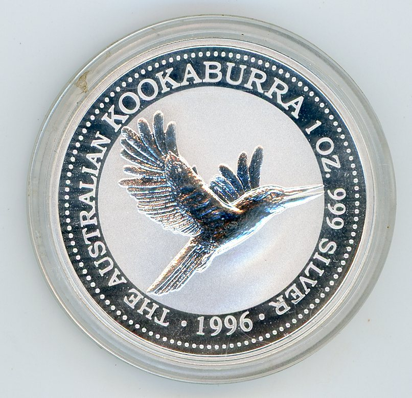 Thumbnail for 1996 1oz Kookaburra in Capsule