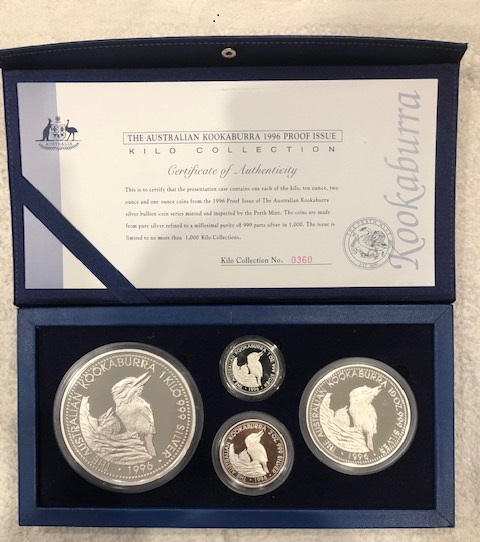 Thumbnail for 1996 4 Coin Kookaburra Proof Set - 45.15oz