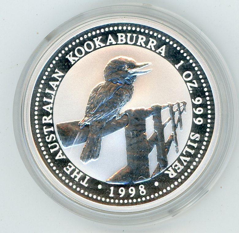 Thumbnail for 1998 1oz Silver Australian Kookaburra