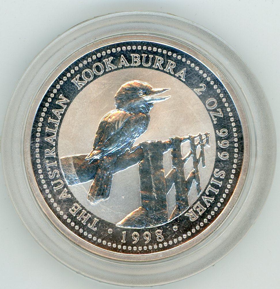 Thumbnail for 1998 2oz Kookaburra .999 Silver - Round Capsule