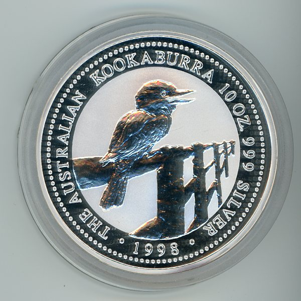 Thumbnail for 1998 10oz Kookaburra .999 Silver