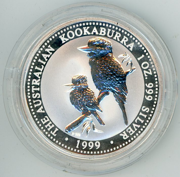 Thumbnail for 1999 One oz Silver Kookaburra