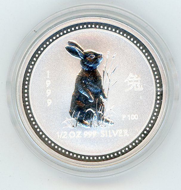 Thumbnail for 1999 Half oz Lunar Year of the Rabbit Series 1