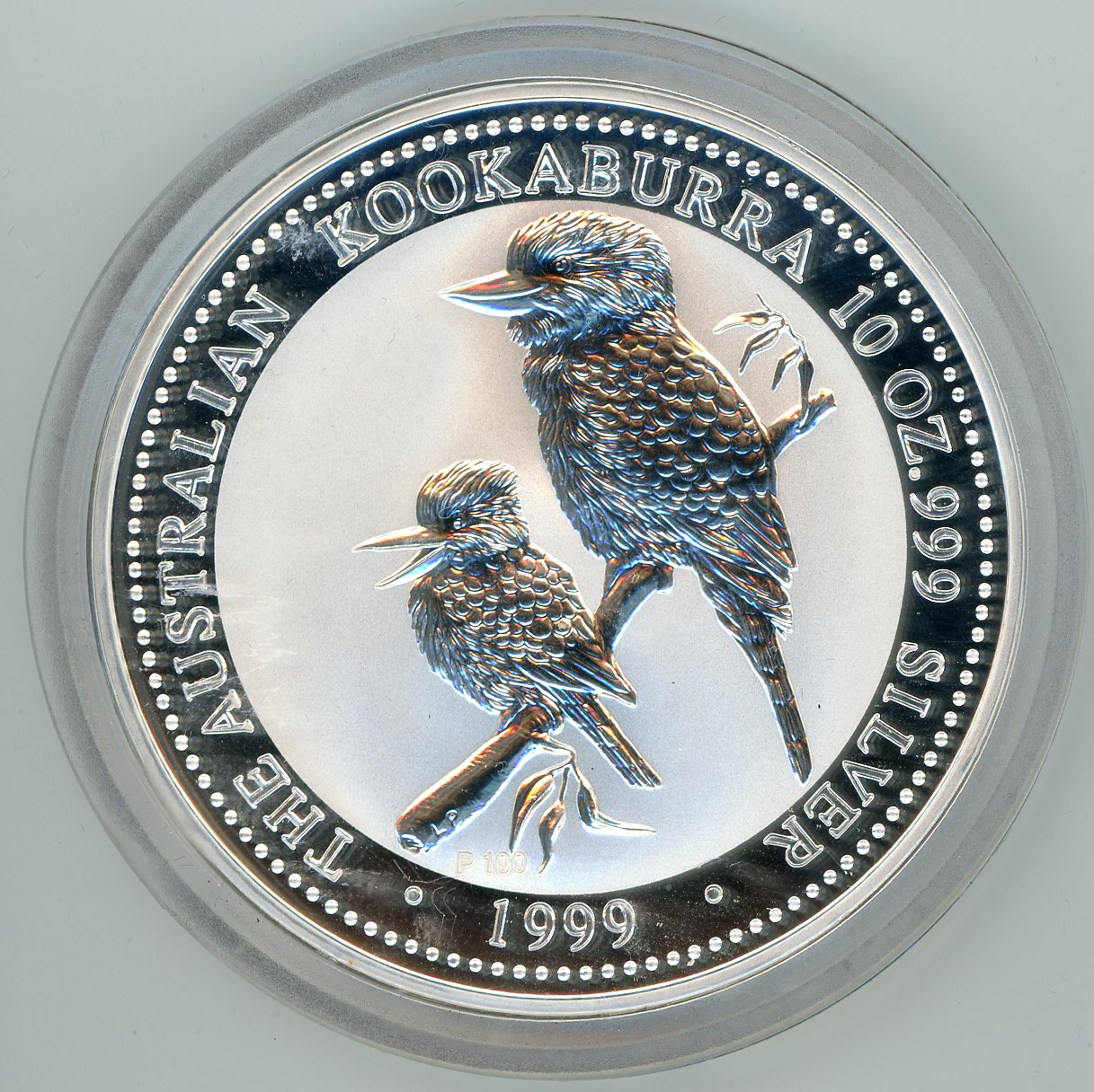 Thumbnail for 1999 Ten oz Silver Kookaburra