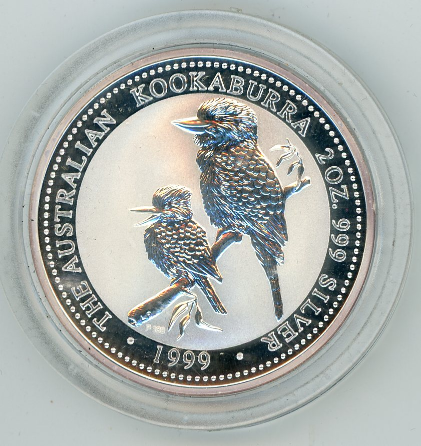 Thumbnail for 1999 Two oz Silver Kookaburra