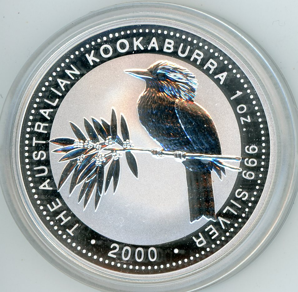 Thumbnail for 2000 1oz Kookaburra .999 Silver