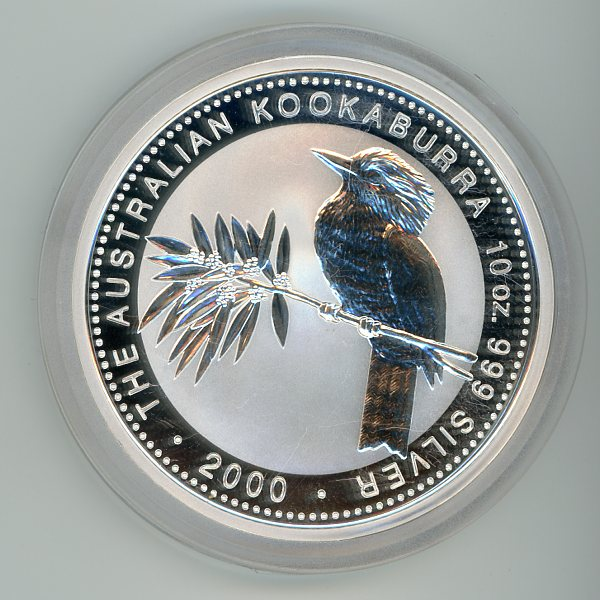 Thumbnail for 2000 10oz Kookaburra .999 Silver