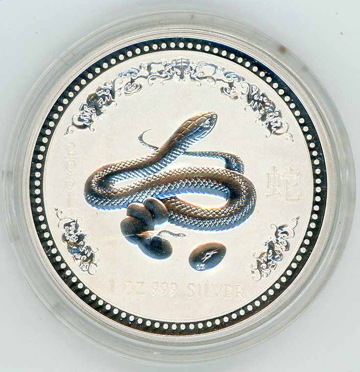 Thumbnail for 2001 2oz Lunar Year of the Snake Series 1