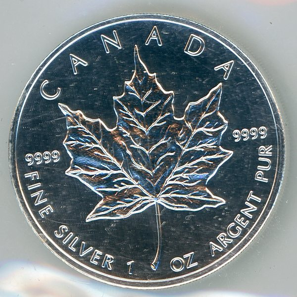 Thumbnail for 2001 Canadian 1oz Maple Leaf .999 Silver