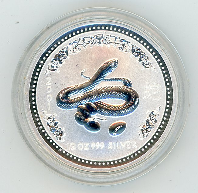 Thumbnail for 2001 Half oz Lunar Year of the Snake Series 1