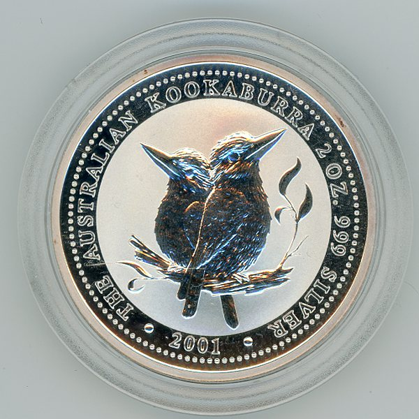 Thumbnail for 2001 2oz Kookaburra .999 Silver