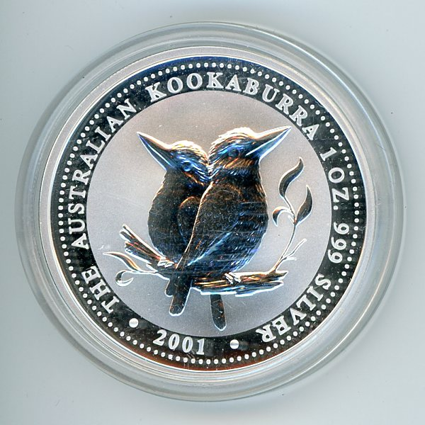 Thumbnail for 2001 1oz Kookaburra .999 Silver