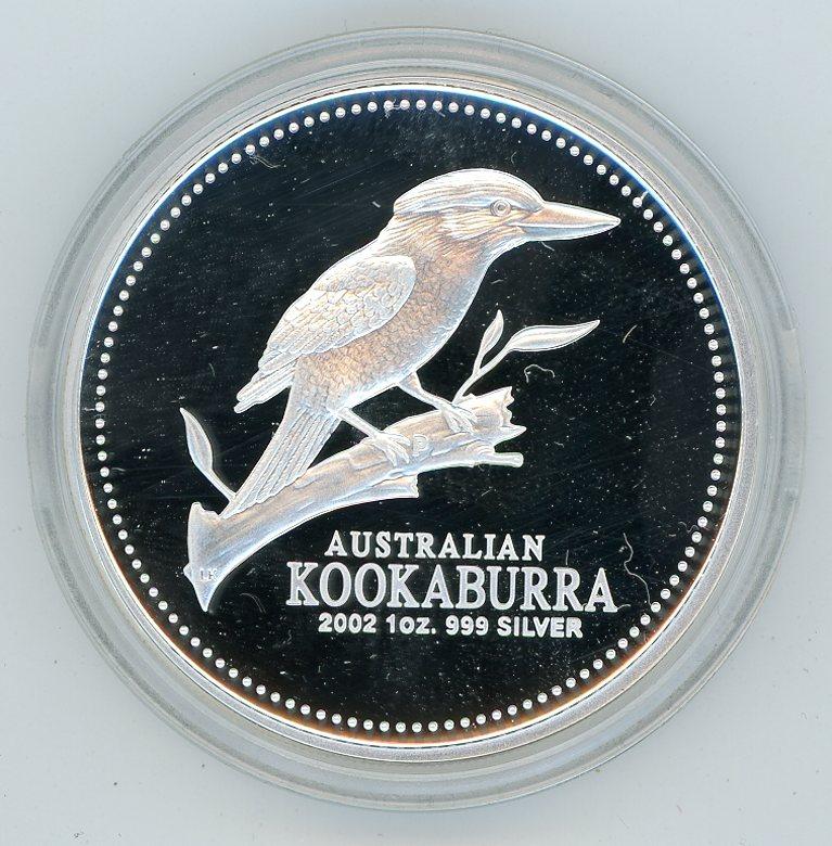 Thumbnail for 2002 1oz Australian Kookaburra .999 Silver