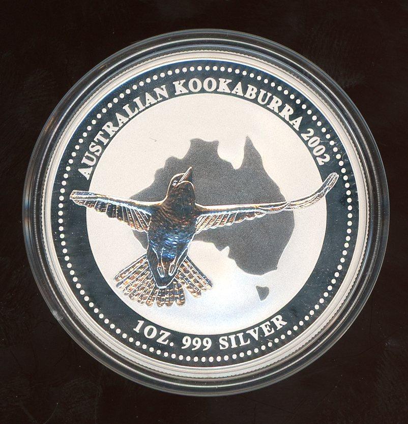 Thumbnail for 2002 One oz Kookaburra .999 Silver