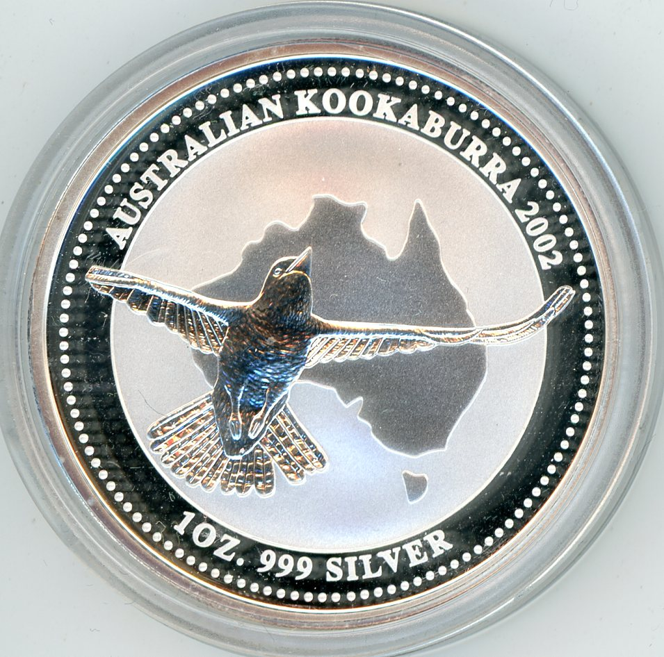 Thumbnail for 2002 1oz Kookaburra .999 Silver